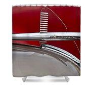 1950 Kaiser Hood Ornament Shower Curtain