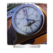 1950 Oldsmobile 88 Dashboard Clock Shower Curtain