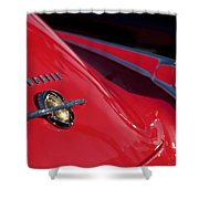 1950 Oldsmobile Rocket 88 Rear Emblem And Taillight Shower Curtain