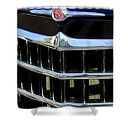 1950 Willys Jeepster Grille Emblem Shower Curtain