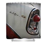 1950s Chevrolet Belair Chevy Antique Vintage Car 2 Shower Curtain