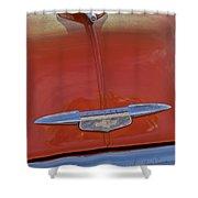 1951 Chevrolet Sedan Delivery Hood Ornament Shower Curtain