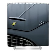 1951 Ferrari 212 Export Touring Berlinetta Hood Emblems Shower Curtain