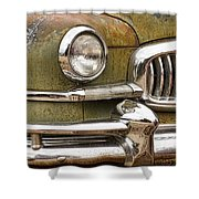 1951 Nash Ambassador Front End Closeup Shower Curtain