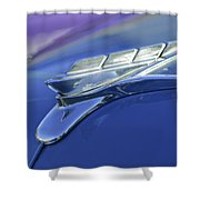 1951 Plymouth Hood Ornament Shower Curtain