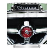 1951 Pontiac Streamliner Grille Emblem Shower Curtain