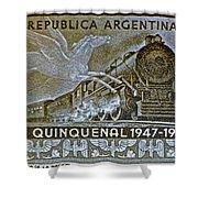1951 Republica Argentina Stamp Shower Curtain