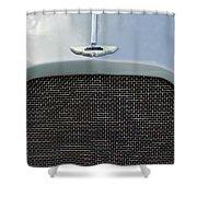 1952 Aston Martin Db2 Grille Emblem Shower Curtain