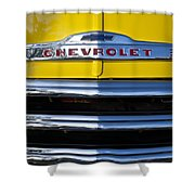 1952 Chevrolet Grille Emblem Shower Curtain