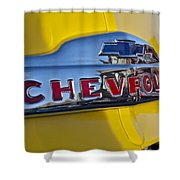1952 Chevrolet Hood Emblem Shower Curtain