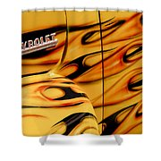 1952 Chevrolet Pickup Truck Emblem Shower Curtain