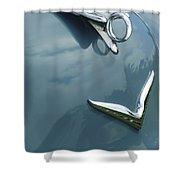 1952 Chrysler Saratoga Coupe Hood Ornament Shower Curtain