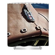 1952 Dodge Hood Emblem Shower Curtain