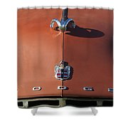 1952 Dodge Ram Hood Ornament 3 Shower Curtain