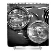 1952 Jaguar Headlights Shower Curtain