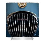 1952 Jaguar Hood Ornament And Grille Shower Curtain