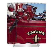 1952 L Model Mack Pumper Fire Truck 2 Shower Curtain