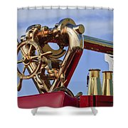 1952 L Model Mack Pumper Fire Truck Shower Curtain