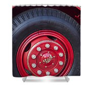 1952 L Model Mack Pumper Fire Truck Wheel 2 Shower Curtain