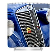 1952 Lancia Ardea 4th Series Berlina Grille Emblems Shower Curtain
