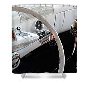 1952 Mercury Interior Shower Curtain