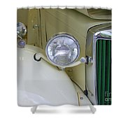 1952 Mg Roadster Headlamp Shower Curtain