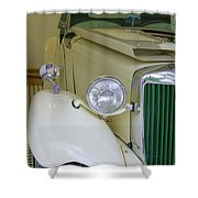 1952 Mg Roadster  Side View Shower Curtain
