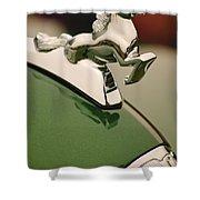 1952 Sterling Gladwin Maverick Sportster Hood Ornament Shower Curtain