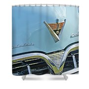 1952 Studebaker Hood Emblem Shower Curtain