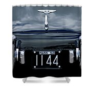 1953 Bentley Rear View License Plate Shower Curtain