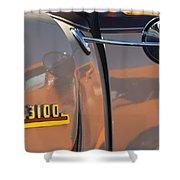 1953 Chevrolet 3100 Pickup Emblem Shower Curtain