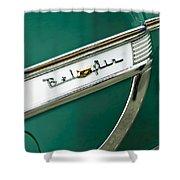 1953 Chevrolet Belair Side Emblem Shower Curtain