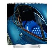 1953 Jaguar 120m Wind Wings Shower Curtain