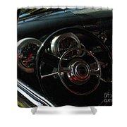 1953 Mercury Monterey Dash Shower Curtain