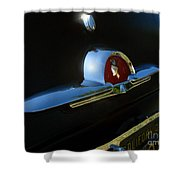 1953 Mercury Monterey Hood Emblem Shower Curtain