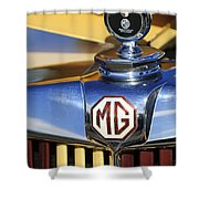 1953 Mg Td Hood Ornament Shower Curtain