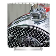 1953 Morgan Plus 4 Le Mans Tt Special Hood Ornament        Shower Curtain