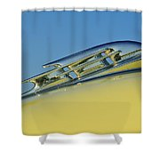 1953 Plymouth Hood Ornament 2 Shower Curtain