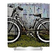 1953 Schwinn Bicycle Shower Curtain