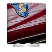 1953 Siata 208s Spyder Emblem Shower Curtain
