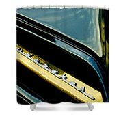 1953 Studebaker Champion Starliner Grille Emblem Shower Curtain