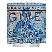 1953 The National Guard Of The U. S. Stamp Shower Curtain