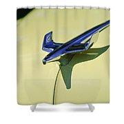 1954 Chevrolet Belair Hood Ornament 2 Shower Curtain