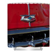 1954 Chevrolet Convertible Hood Emblem Shower Curtain