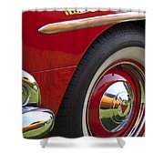 1954 Hudson Hornet Wheel And Emblem Shower Curtain