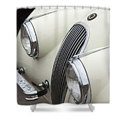 1954 Jaguar Xk120 Roadster Grille Shower Curtain