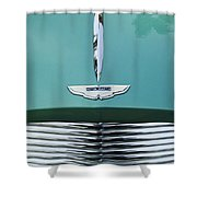 1955 Aston Martin Grille Emblem Shower Curtain by Jill Reger
