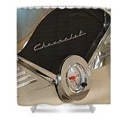 1955 Chevrolet Belair Clock Shower Curtain