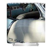 1955 Chevrolet Belair Dashboard 2 Shower Curtain