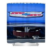 1955 Chevrolet Belair Hood Emblem 4 Shower Curtain